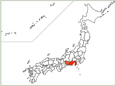 浮所という苗字は愛知県と静岡県に分布
