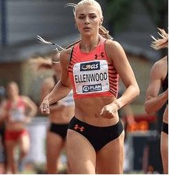 エレンウッド選手は陸上競技で最もハードな七種競技の選手です。