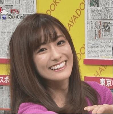 田村真子アナ、白い歯を見せてくれました。