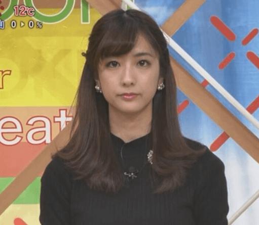 お天気情報を担当する田村真子アナ