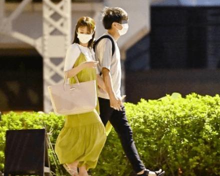 滝菜月アナが浅草の雷門近くでデートしていたとイケメン会社員彼氏